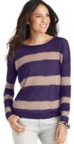 Purple striped sweater at Loft