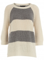 Grey striped sweater at Dorothy Perkins