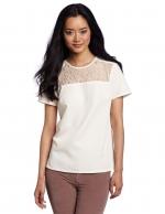 Similar white lace top at Amazon