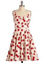Cherry print dress at Modcloth
