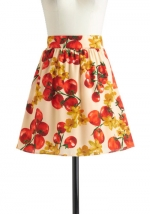 Tomato print skirt at Modcloth