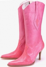 Hot pink cowboy boots like Magnolias at Amazon