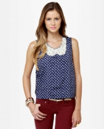 Polka dot top like Lemons at Lulus
