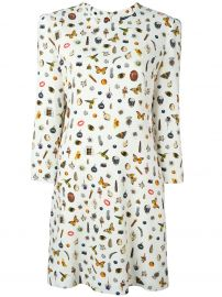 \'Obsession\' Print Dress by Alexander McQueen at Farfetch