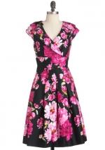 Black and pink dress like Blairs at Modcloth