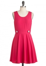 Bernadette's pink dress at Modcloth