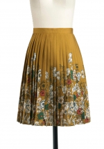 Pleated floral skirt at Modcloth