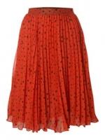 Orange pleated skirt at House of Fraser