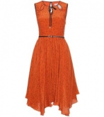 Blair's orange dress at My Theresa