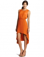Orange hi-low dress like Blairs at Amazon