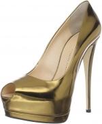 Blair's gold peep toes at Amazon