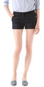 Zoe's plaid shorts at Shopbop