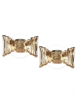 Gold bow earrings at Pink Mascara