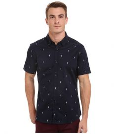 7 Diamonds Supercharged Short Sleeve Shirt Navy at Zappos
