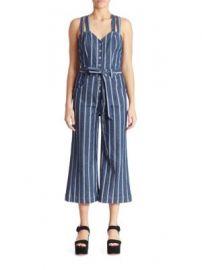 7f5934e6e21 WornOnTV  Coco s striped denim jumpsuit on The Bold and the ...