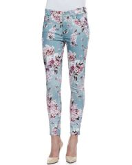 7 For All Mankind Victorian Floral Jeans at Neiman Marcus