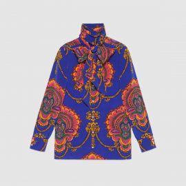 70s Graphic Print Silk Shirt by Gucci at Gucci