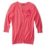 Pink embellished cardigan at Target