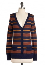 Brown striped cardigan like Amys at Modcloth