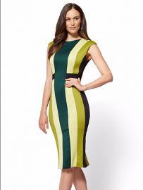 7th Avenue Colorblock Sheath Dress by New York & Company at NY&C