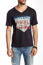 7th Inning Stretch Baseball Rocks Graphic V-Neck T-Shirt at Nordstrom Rack