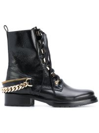 995 Lanvin Chain-embellished Combat Boots - Buy Online - Fast Delivery  Price  Photo at Farfetch