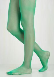 A Girl Can Sheen Tights at ModCloth