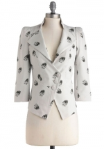 A Heart Skull of Love blazer from ModCloth at ModCloth