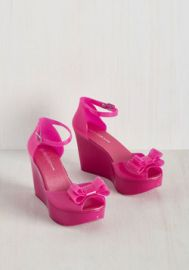 A Joy to Be Bold Wedge in Fuchsia at ModCloth