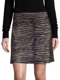 A L C  - Alonso Metallic Tiger-Print Skirt at Saks Fifth Avenue