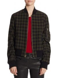 A L C  - Andrew Gingham Wool Bomber Jacket at Saks Fifth Avenue