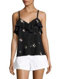 A L C  - Ari Ruffle Silk Top at Saks Off 5th