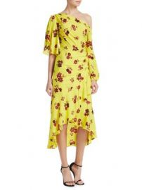 A L C  - Florence Floral Silk Midi Dress at Saks Fifth Avenue