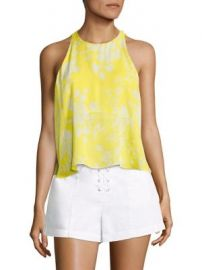 A L C  - Jasper Flyaway Silk Cropped Top at Saks Fifth Avenue