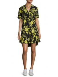 A L C  - Kayden Floral-Print Silk Shirtdress at Saks Off 5th