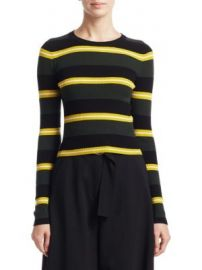 A L C  - Shea Stripe Crewneck Sweater at Saks Fifth Avenue