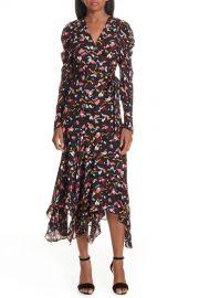 A L C    Tianna Silk Wrap Dress   Nordstrom Rack at Nordstrom Rack
