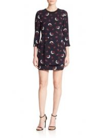 A L C  - Tordi Printed Silk Dress at Saks Off 5th