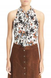 A L C    x27 Steele  x27  Floral Print Silk Top at Nordstrom