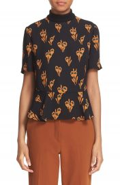 A L C   Bailie  Floral Print Silk Top at Nordstrom
