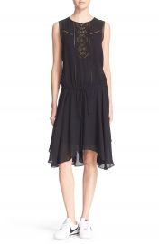 A L C   Meloni  Lace Inset Silk Dress at Nordstrom