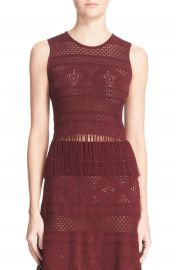A L C   Tucker  Crochet Lace Fringed Tank at Nordstrom