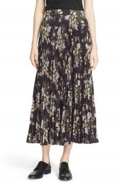 A L C   Williams  Pleated Floral Print Skirt at Nordstrom