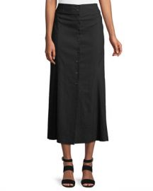 A L C  Amelie Button-Front Midi Skirt at Neiman Marcus