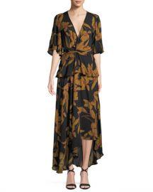 A L C  Avi Floral-Print Silk Maxi Dress at Neiman Marcus