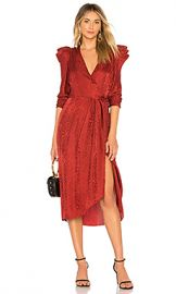 A L C  Carolina Dress in Crimson from Revolve com at Revolve