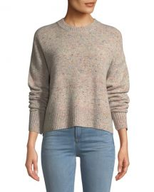 A L C  Emmeline Speckled Wool-Cashmere Sweater at Neiman Marcus