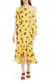 A L C  Florence One-Shoulder Silk Dress at Nordstrom