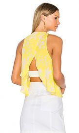 A L C  Jasper Top in Yellow  amp  Eggshell from Revolve com at Revolve