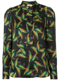 A L C  Leaves Print Fitted Shirt at Farfetch